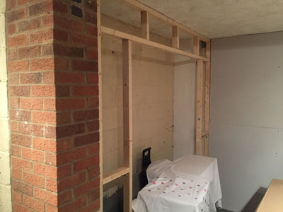 Garage Conversion During Work